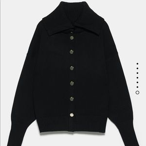 Zara Knit Jacket with Buttons